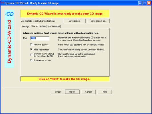Screenshot of Dynamic-CD for ASP