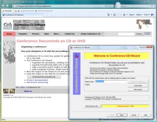 Screenshot of Conference-CD