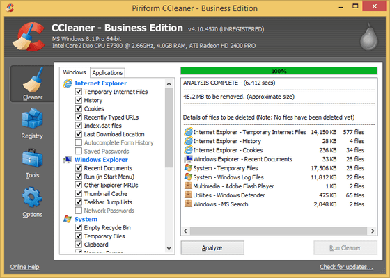 CCleaner Business Edition について
