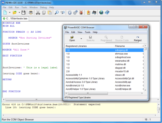 PowerBASIC Compiler for Windows