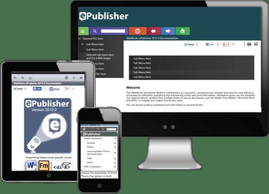 ePublisher Platform (英語版) のスクリーンショット