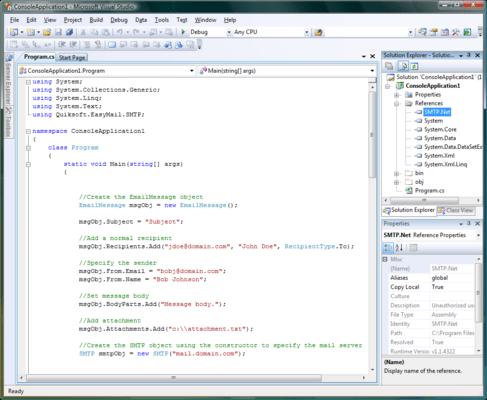 EasyMail SMTP Express Professional のスクリーンショット