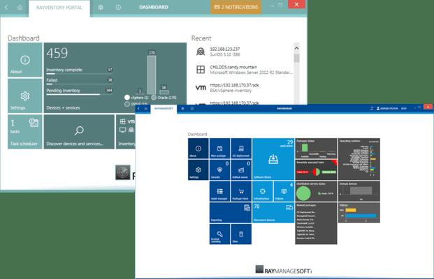 Screenshot of RaySuite Appliance