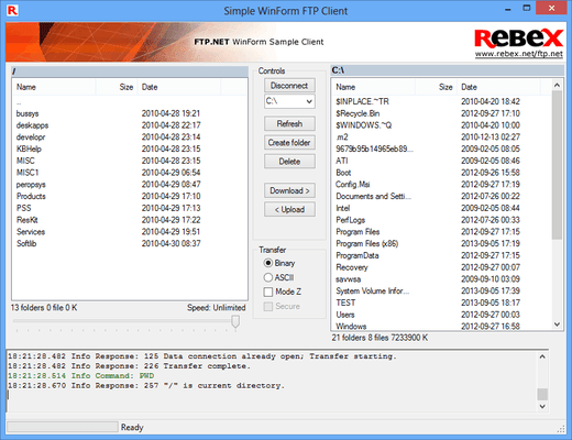 Screenshot of Rebex Total Pack