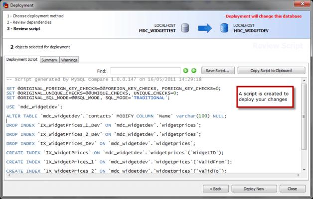 MySQL Data Compare のスクリーンショット