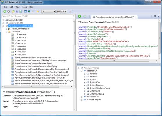 Screenshot von .NET Reflector Standard