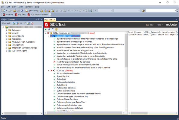 Screenshot of SQL Test