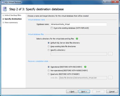 sql virtual restore downloads