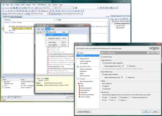 Screenshot of Redgate .NET VS Productivity Pack