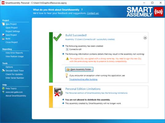 Captura de tela do SmartAssembly