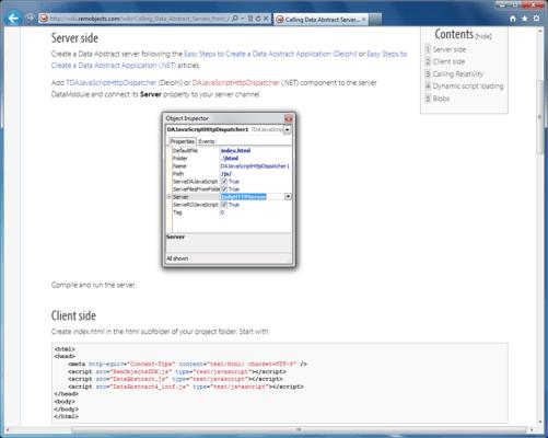 Screenshot of Data Abstract for JavaScript