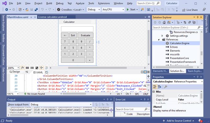 Screenshot of RemObjects C#