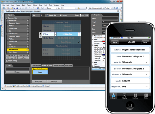 Screenshot of Resco MobileApp Studio Android Edition
