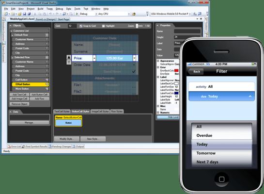 Screenshot of Resco MobileApp Studio iOS Edition