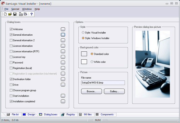 Screenshot of SamLogic Visual Installer