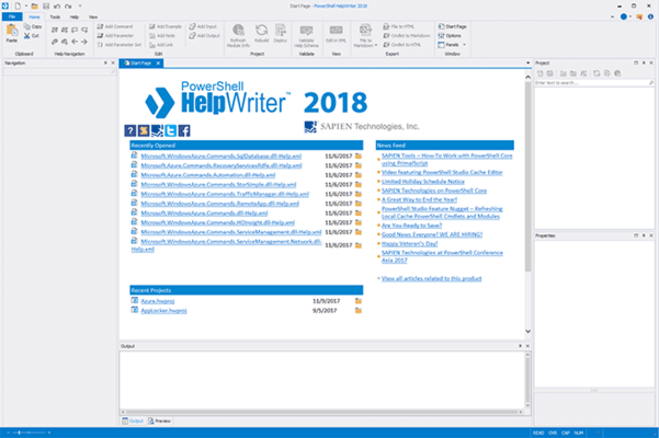 Screenshot of PowerShell HelpWriter