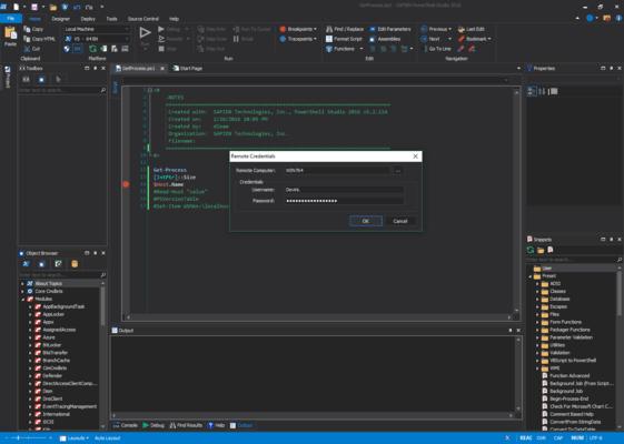 Screenshot von PowerShell Studio