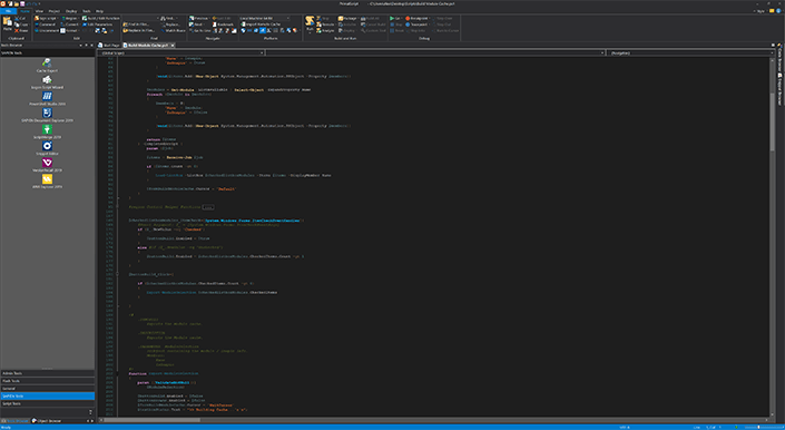 Screenshot of PrimalScript