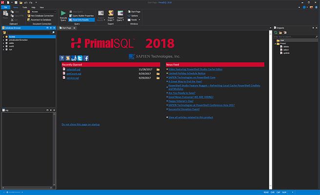Screenshot of PrimalSQL