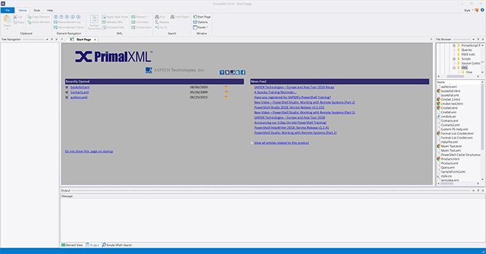 Screenshot of PrimalXML