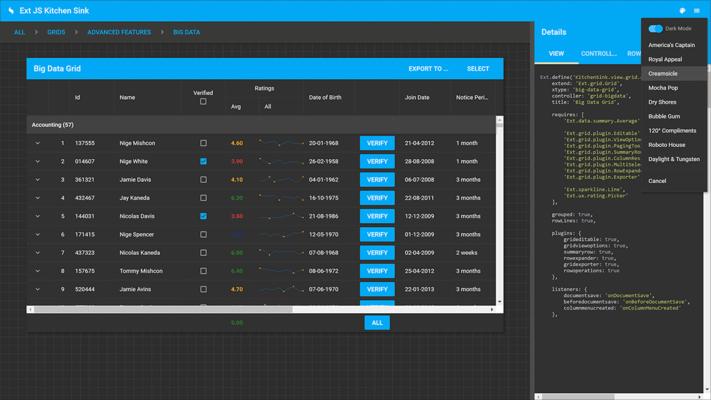 Screenshot of Sencha Ext JS
