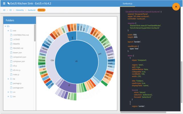 Screenshot of Sencha ExtWebComponents