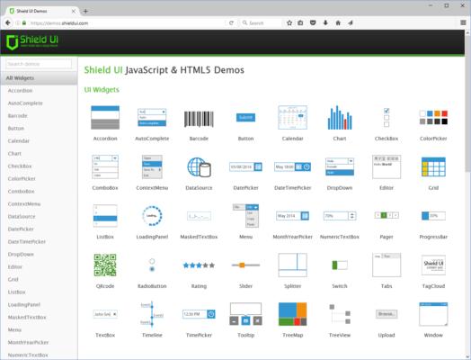 Screenshot of ShieldUI Complete
