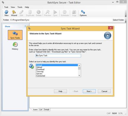 Screenshot of Batchsync 4 LTS