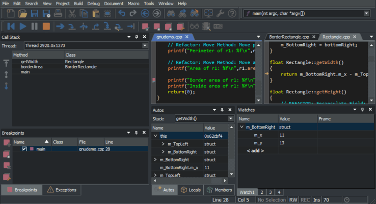Screenshot of SlickEdit Multi-Platform