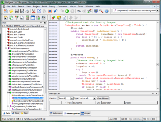 <strong>About SlickEdit for Windows and Solaris SPARC</strong><br /><br />