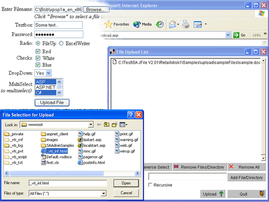 Screenshot of FileUp Professional