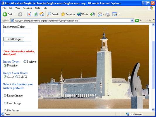 Screenshot of SoftArtisans ImgWriter