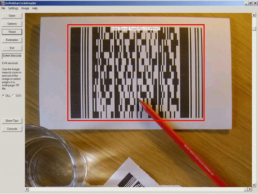 Captura de tela do Softek Barcode Reader Toolkit for Windows