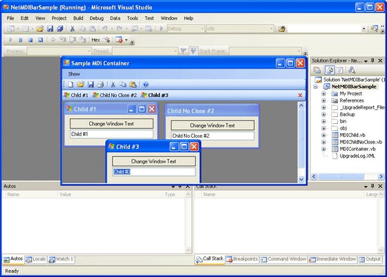 Screenshot of .NET MDI Bar