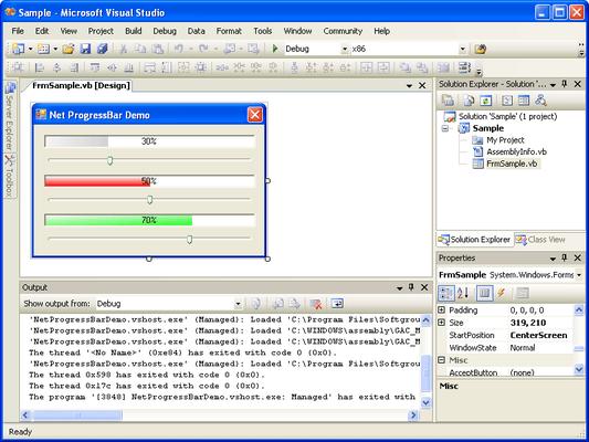 Screenshot of .NET Progress Bar