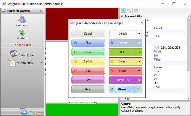 Screenshot of Softgroup .Net Controls Suite