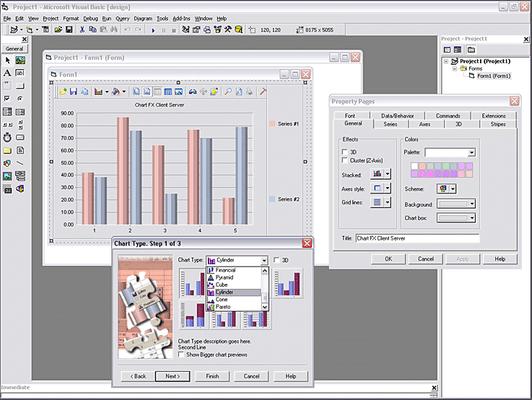Chart FX Client Server 屏幕截图