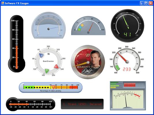 Chart FX Gauges for .NET (英語版) のスクリーンショット