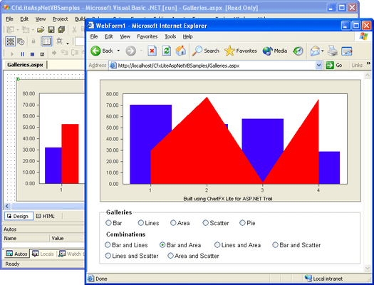 Screenshot of Chart FX Lite for ASP.NET