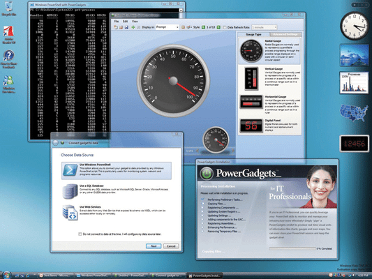 Screenshot of PowerGadgets