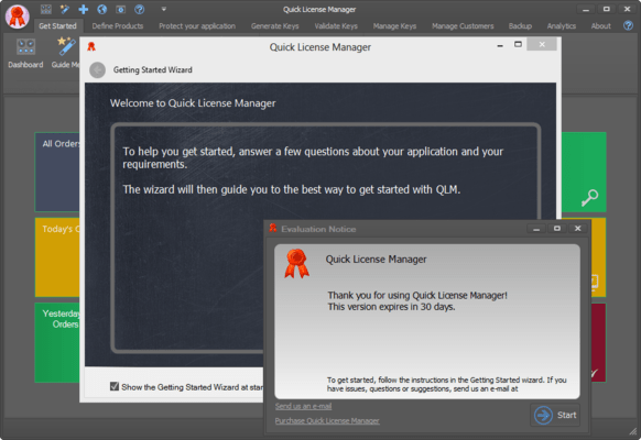 Screenshot of Quick License Manager (QLM)