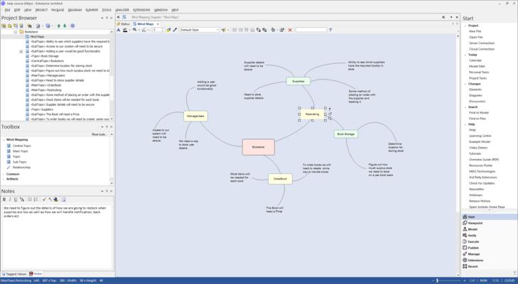 Screenshot von Enterprise Architect Desktop Edition