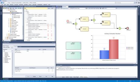 Screenshot von MDG BPSim Execution Engine
