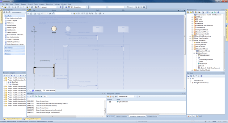 Screenshot von Enterprise Architect Professional Edition