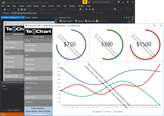 TeeChart for .NET Standard Business Edition(英語版) のスクリーンショット