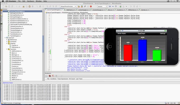 TeeChart.NET for Xamarin.iOS 的螢幕截圖