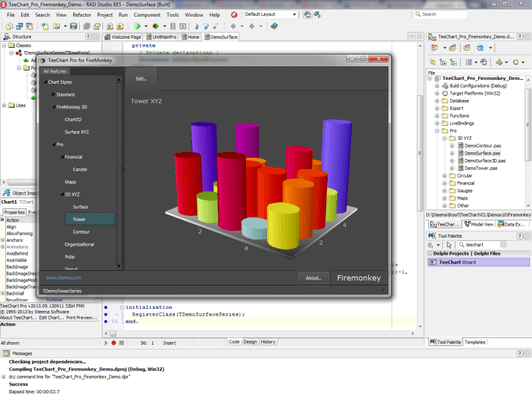 Screenshot of TeeChart Pro VCL/FMX