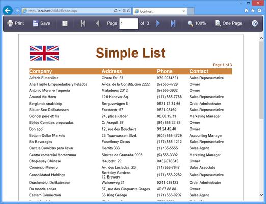 Stimulsoft Reports.Mobile(英語版) のスクリーンショット