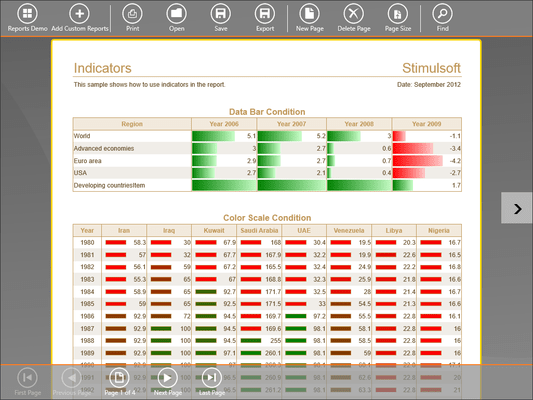 Screenshot of Stimulsoft Reports.WinRT