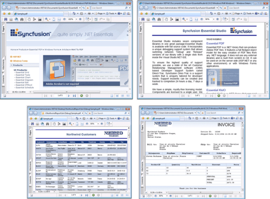 Screenshot of Syncfusion Essential PDF